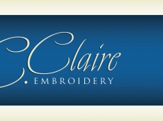 C.Claire Embroidery Tradeshow Banner