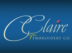 C.Claire Embroidery Logo Design