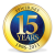 15 year company anniversary seal Thumbnail