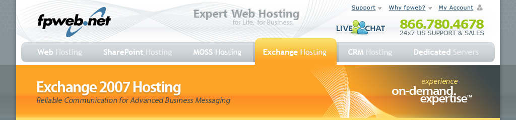 Exchange Hosting Header
