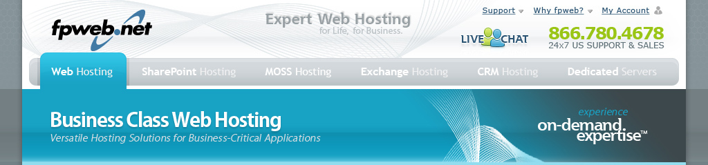Web Hosting Header