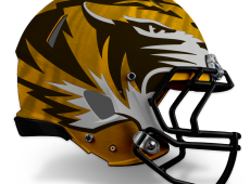 Mizzou Football Helmet Design – Gold/White v1