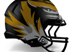 Mizzou Football Helmet Design – Black v1