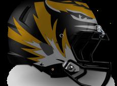 Mizzou Football Helmet Design – Black v1
