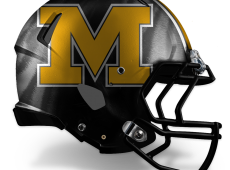 "Mizzou Football Helmet Design – v2 ""M"""
