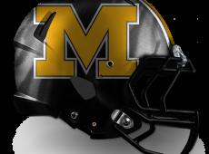"""Mizzou Football Helmet Design – v2 """"M"""""""