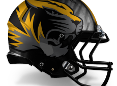 Mizzou Football Helmet Design – Gray v2