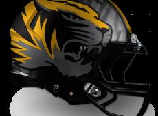 Mizzou Football Helmet Design – Gray v2