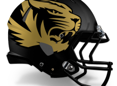 Mizzou Football Helmet Design – V3