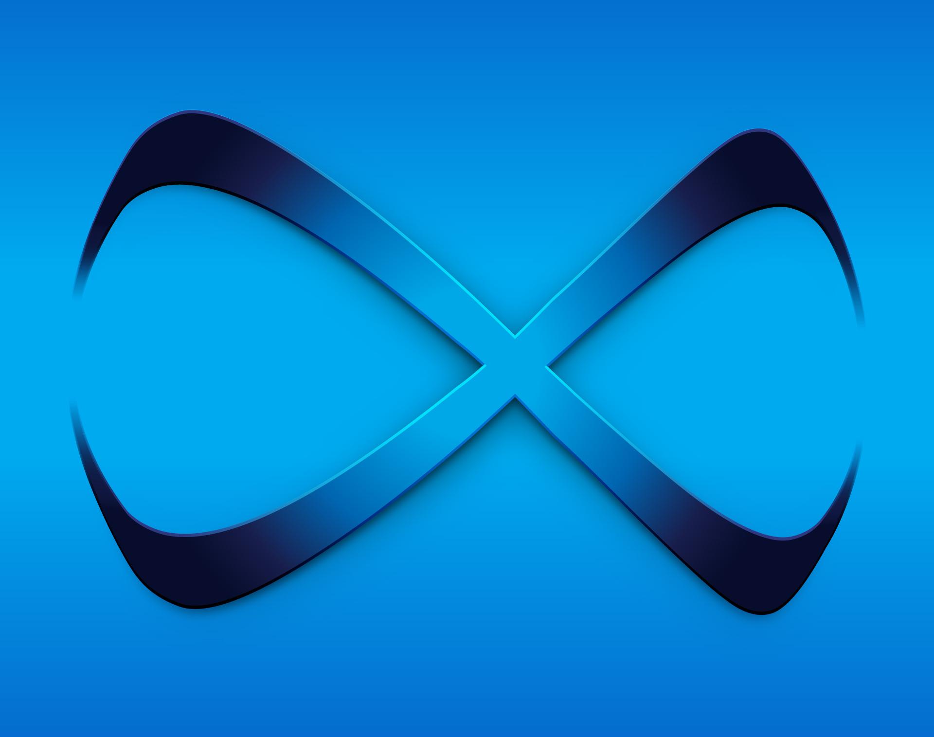 Infinix Symbol - Alternate Color on Branded Blue