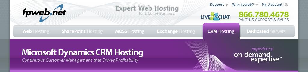 CRM Hosting Header