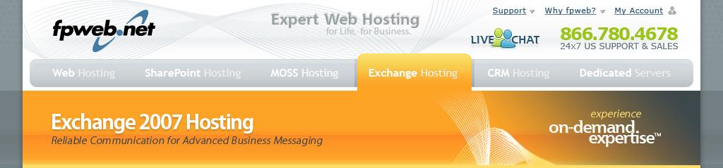 Exchange Hosting Header