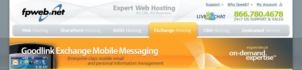 Mobile Exchange Header - Goodlink