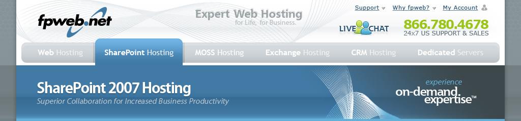 SharePoint Hosting Header