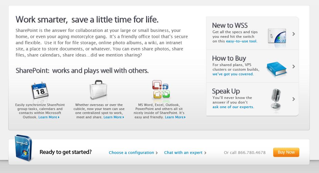 SharePoint Server Landing Page Bottom Fold
