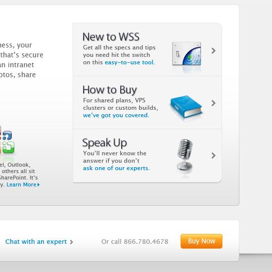 SharePoint Server Landing Page Closeup