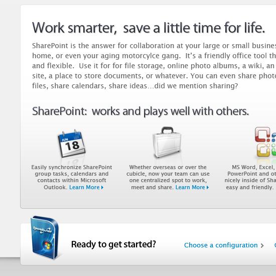 SharePoint Server Landing Page Closeup 2